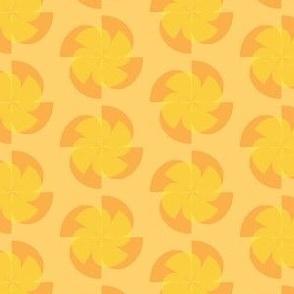 orange slice flower