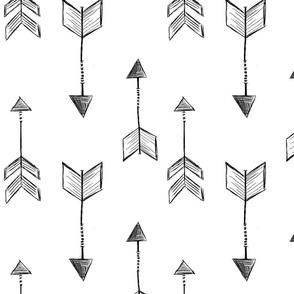 Arrow Sketch Black & White