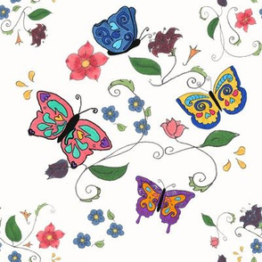Butterfly Floral large