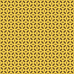ellipse brown on yellow
