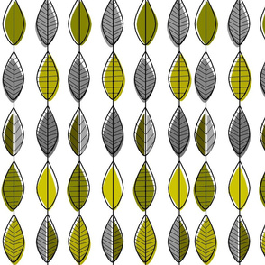 Mid-century Modern Leaf Pattern