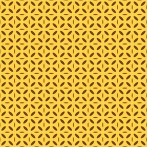 ellipse bown orange on yellow
