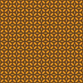 ellipse orange on brown