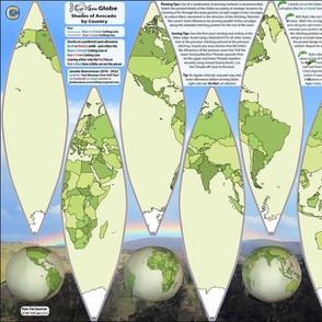 Shades of Avocado GLOBE Cut n Sew