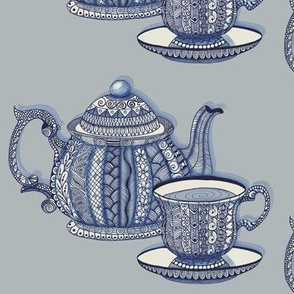 Tea Set in Blue