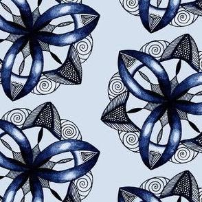 Triskele Mandala Blue