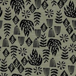 Safari Plants - Olive (Custom size) by Andrea Lauren