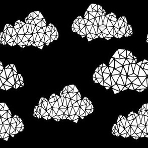 geo clouds // cool scandi scandinavian trendy clouds design for minimal nursery and trendy hipster baby decor