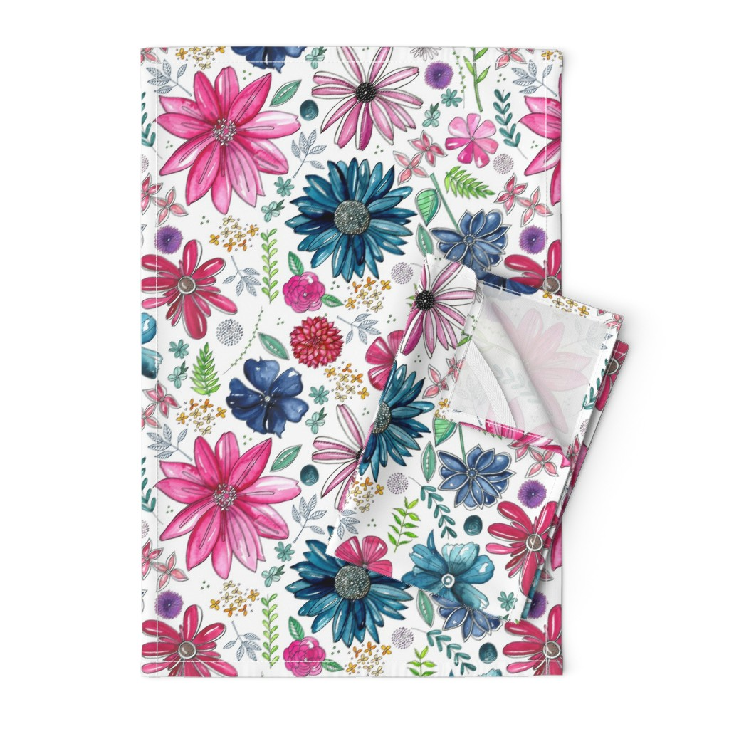 Orpington Tea Towels featuring Botanical Sketchbook by kathryncole