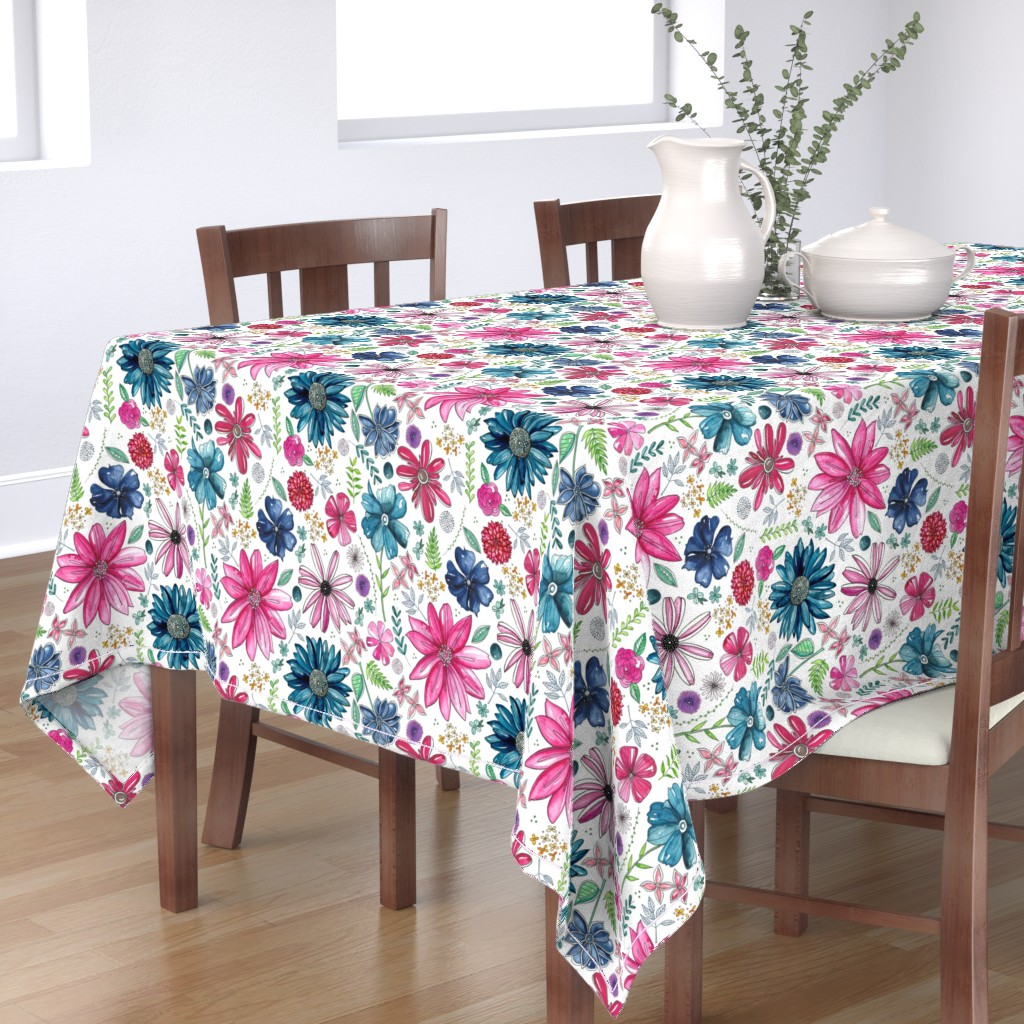 Bantam Rectangular Tablecloth featuring Botanical Sketchbook by kathryncole