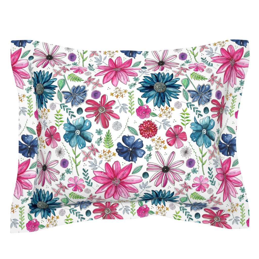 Sebright Pillow Sham featuring Botanical Sketchbook by kathryncole