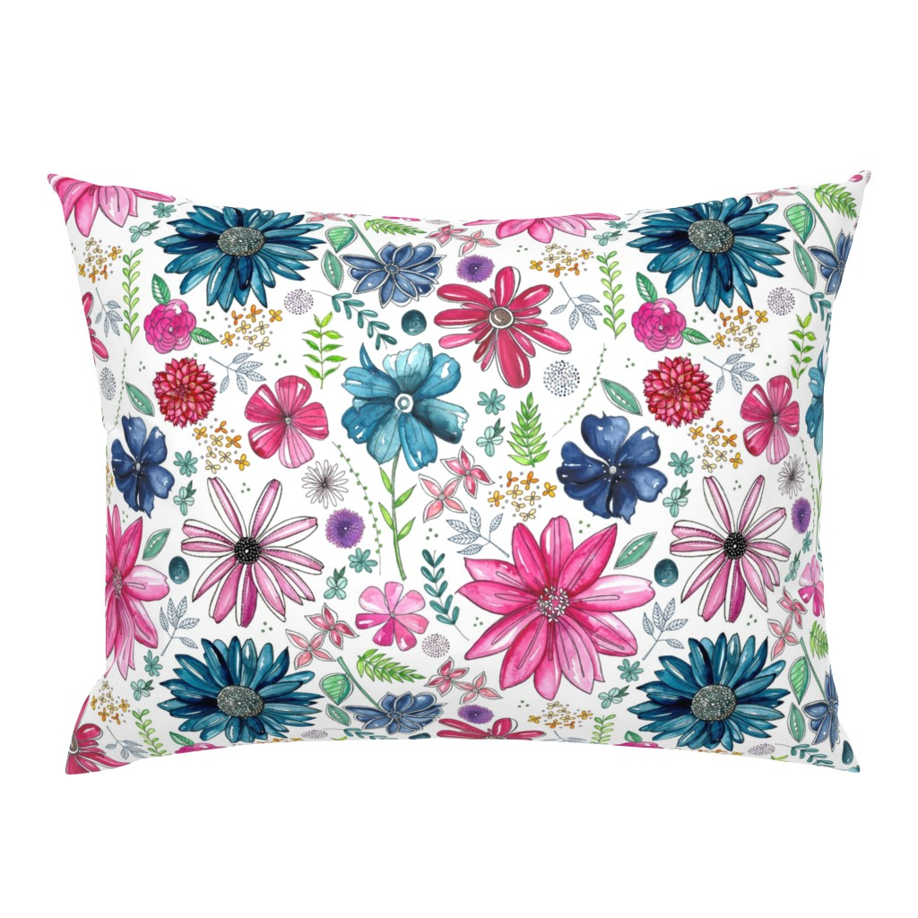 Campine Pillow Sham featuring Botanical Sketchbook by kathryncole