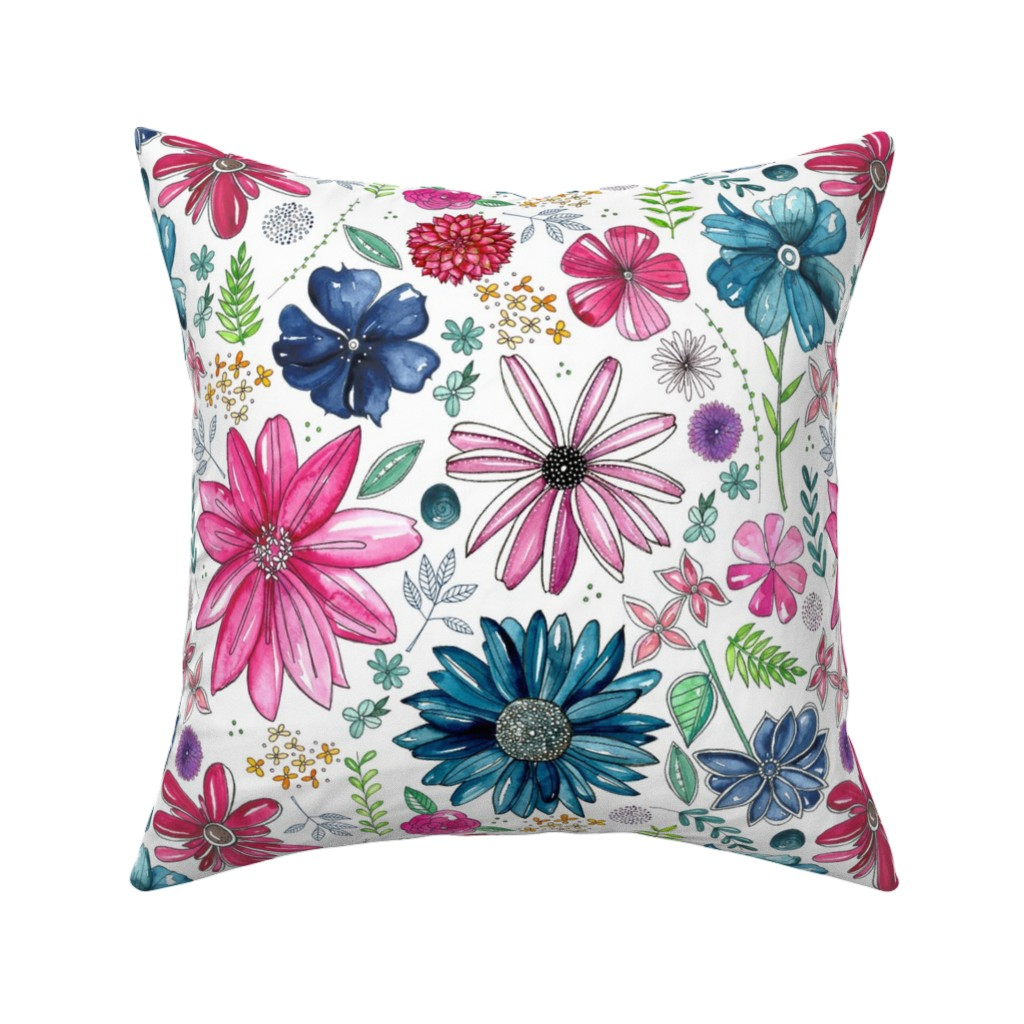 Catalan Throw Pillow featuring Botanical Sketchbook by kathryncole