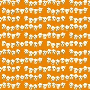 Skeleton Garland on orange