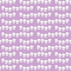 skeleton garland on pale purple