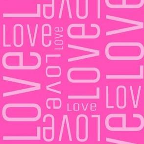 Pink love fabric
