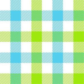 Plaid - Cyan, Spring Green