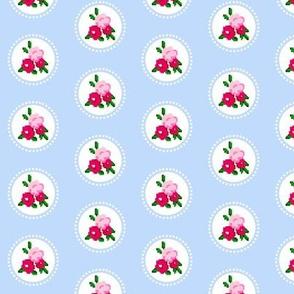 Pixel Rose Polka Dot