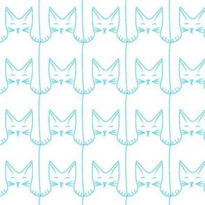 cat pattern (blue)