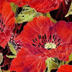 Romance Poppies Botanical Sketchbook_Dk
