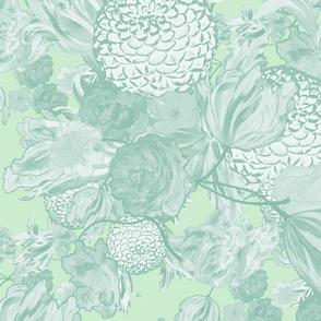 mid century modern floral ~