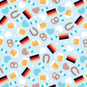 Traditional german oktoberfest beer holiday illustration print
