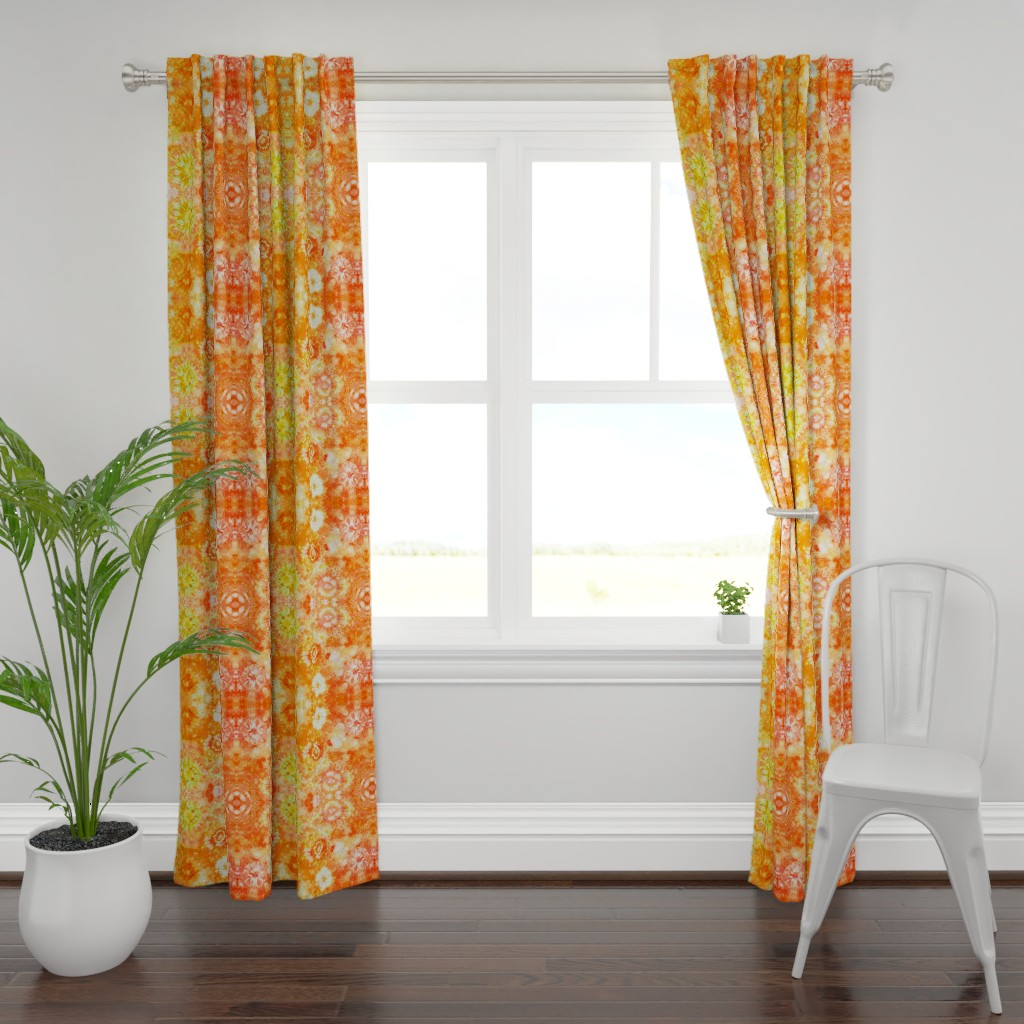 Plymouth Curtain Panel featuring California Poppies by women_in_the_moon
