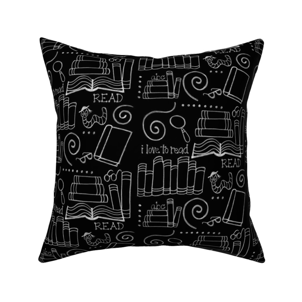 Catalan Throw Pillow featuring I love to READ!! by designergal