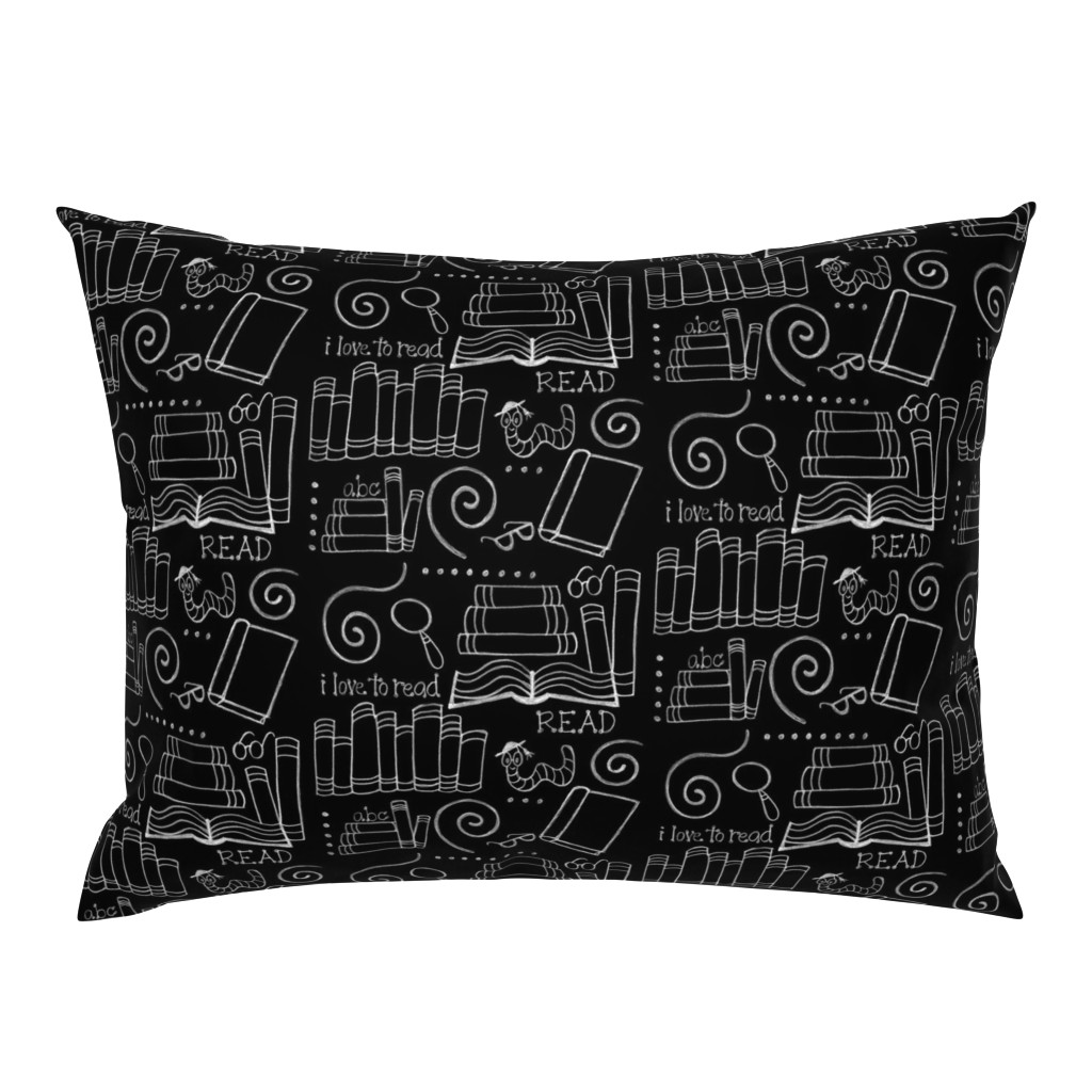Campine Pillow Sham featuring I love to READ!! by designergal