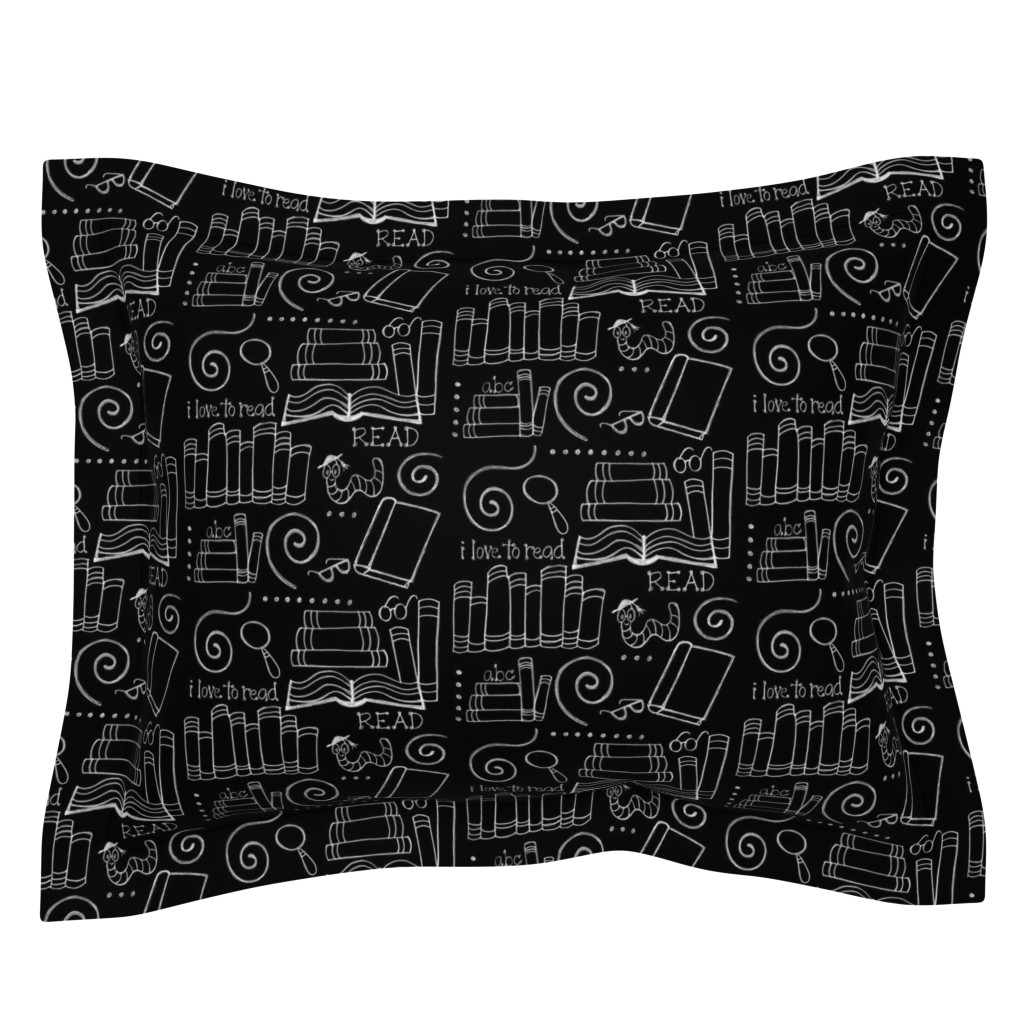 Sebright Pillow Sham featuring I love to READ!! by designergal
