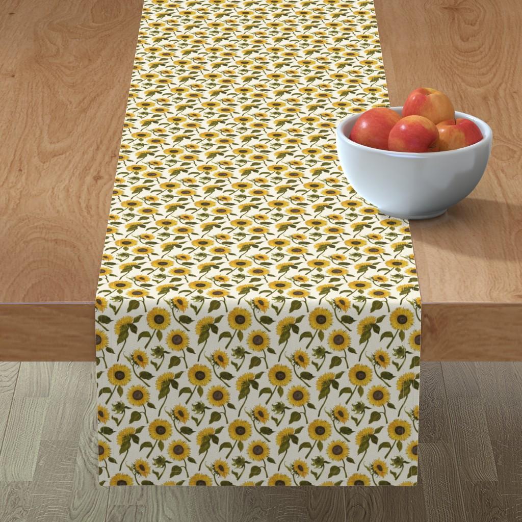 Minorca Table Runner featuring Sunflower by angelastevens