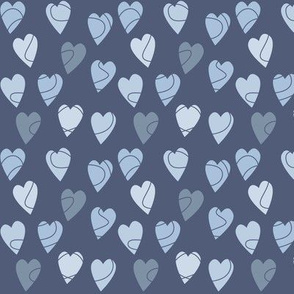 Linehearts Blue