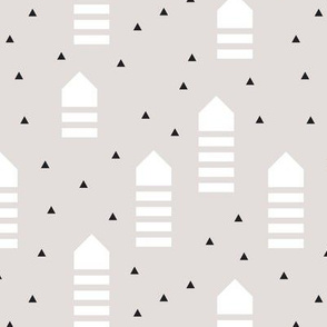 Abstract geometric arrows and triangles scandinavian style pastel design
