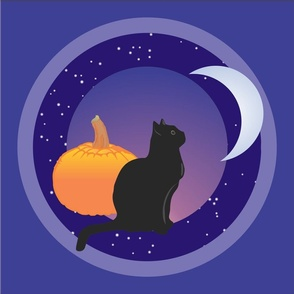 Black Cat in the Moon