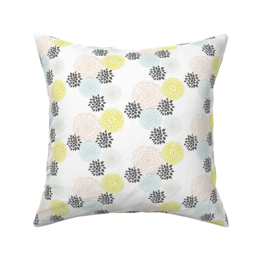 Catalan Throw Pillow featuring Freshtastic Flowers by heatherdoucette