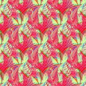 Tropical batik polka dots-red