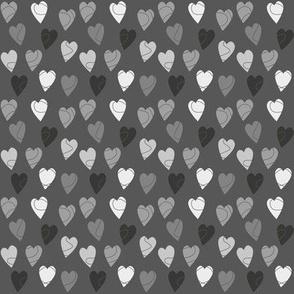 Linehearts Black