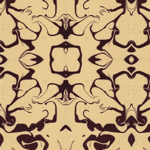 Retro Marbled Design in Yellow and Brown