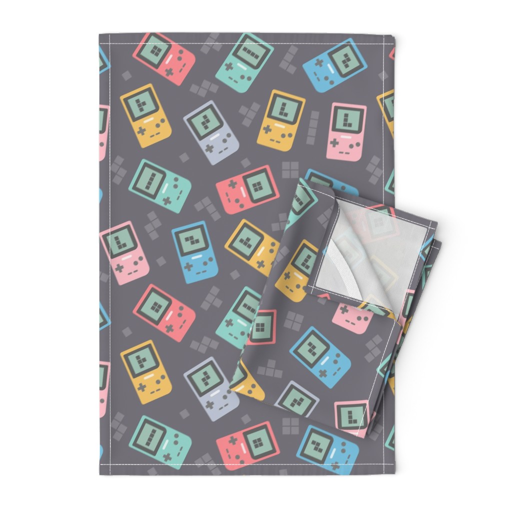 Orpington Tea Towels featuring game console 90s by enariyoshi
