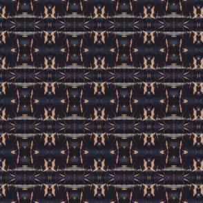 Indigo Feather Stripe