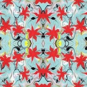 Marbled Floral Print