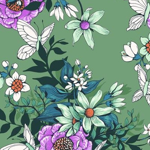 Thea's Garden - mint and lavender