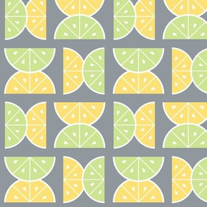 Lemon & Lime Squeeze, Gray