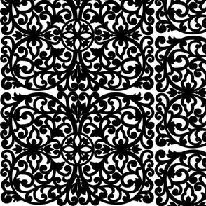Quatrefoil, Black on White