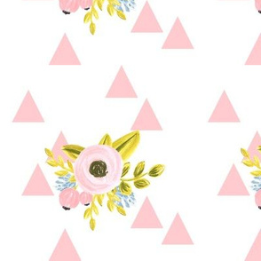 Flower triangles - pink