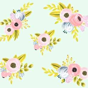 Floral pattern - light mint