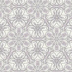 Lavender Gray Cream Aqua Floating Soft Flowers