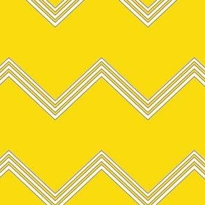 Yellow Chevron Pattern