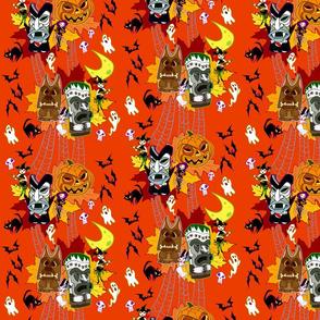 Halloween Tiki - Orange