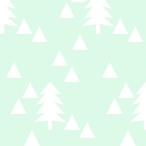 triangle forest - mint and white